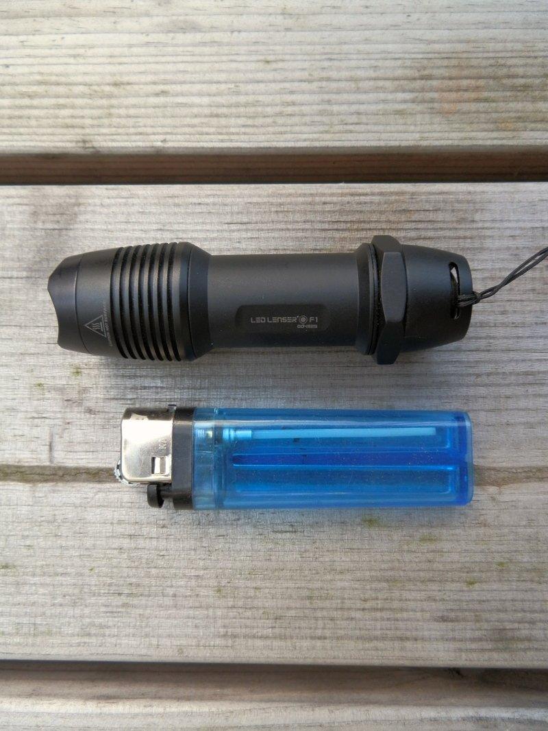 led lenser f1 lommelygte test