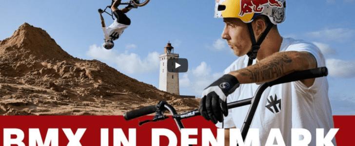 Kriss Kyle på cykeleventyr i Danmark